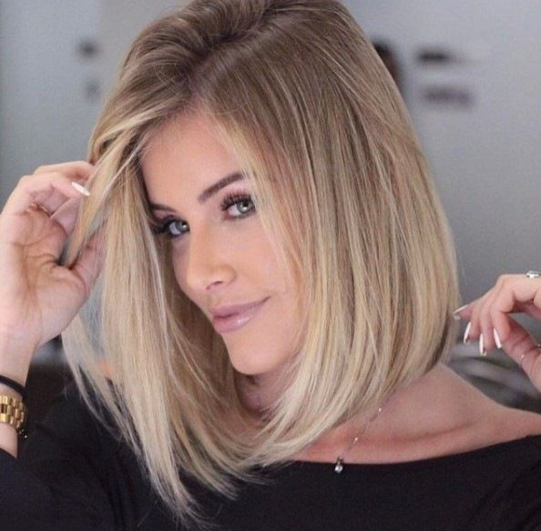 9-Braune Bob Frisuren mit Blonde Highlights 2017