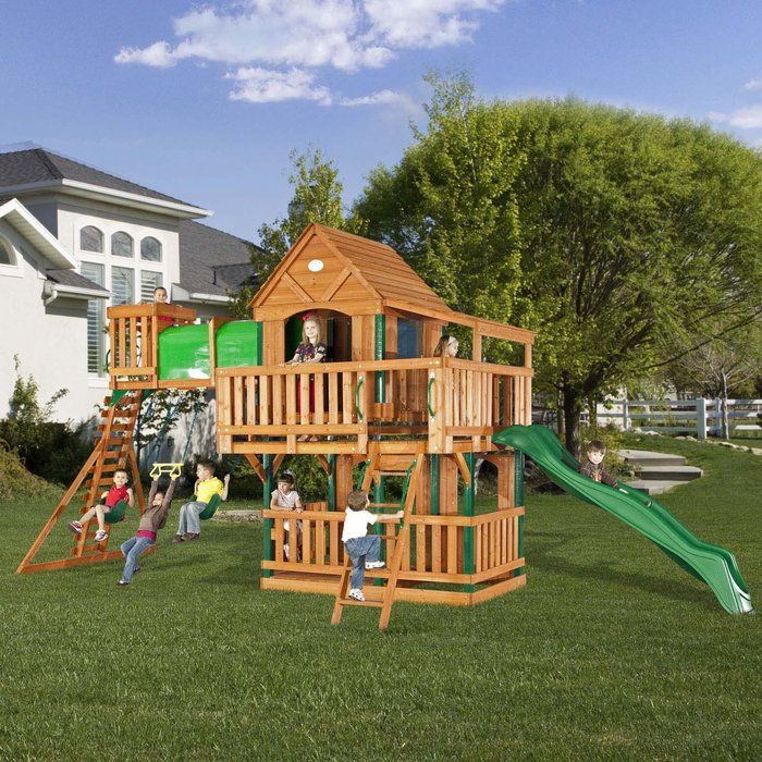 Kids clubhouse plans woodridge clubhouse jungle gym and for Wooden jungle gym plans