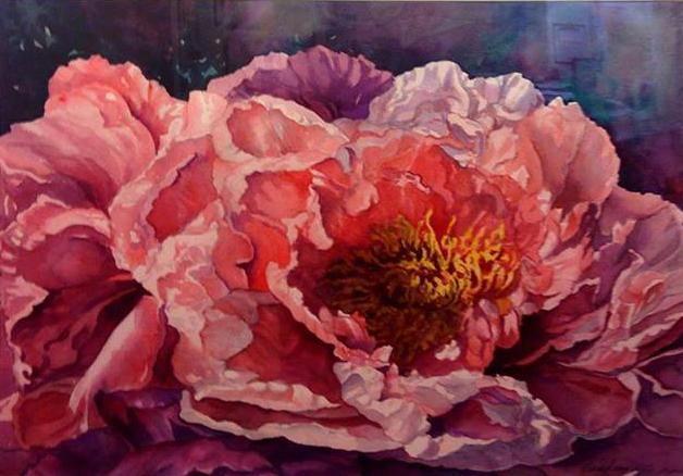 Peonies by Jeanne Lindsay