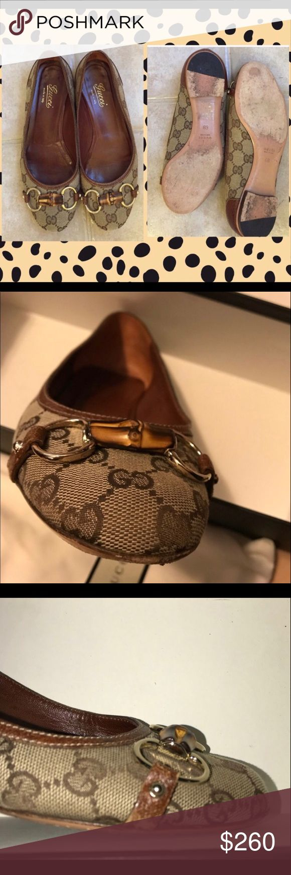 Authentic 💯💯💯 GUCCI horsebit flats💕💕💕 Very clean. Wore not too many times but do have a leather rubbing on side. It's pretty small. Not noticed wearing. Comes with box and shoe dust bags. Fits true to size. 💕💕💕 CHANEL Shoes Flats & Loafers