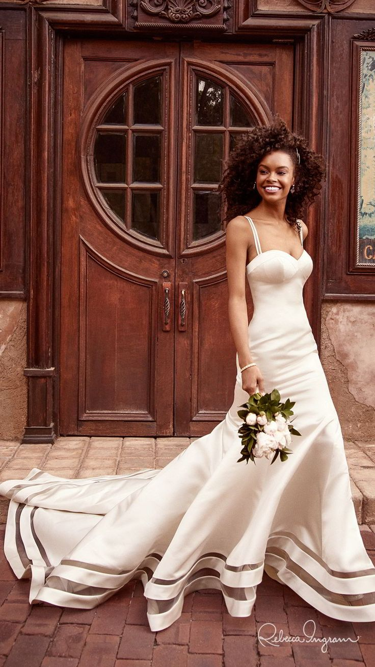 Maggie Sottero Designs Trend Report 2019 — These Wedding Dresses Feature the Hottest Trends of the Year | Wedding Inspirasi | Bridal dresses, Wedding dresses satin, Wedding dresses
