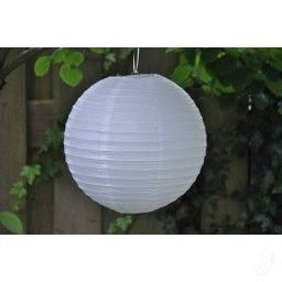 Lampion - Wit & Brandvertragend (30,40, 50 & 60 cm)