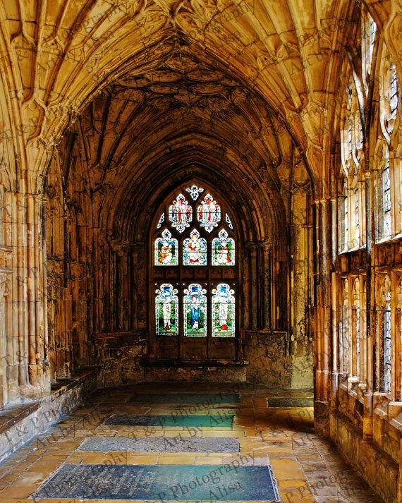 Cathedral 8 x 10 photo church gift England fine art spiritual picture stained glass architecture 7th century ENLARGEMENTS available