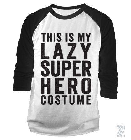 lazy super hero costume