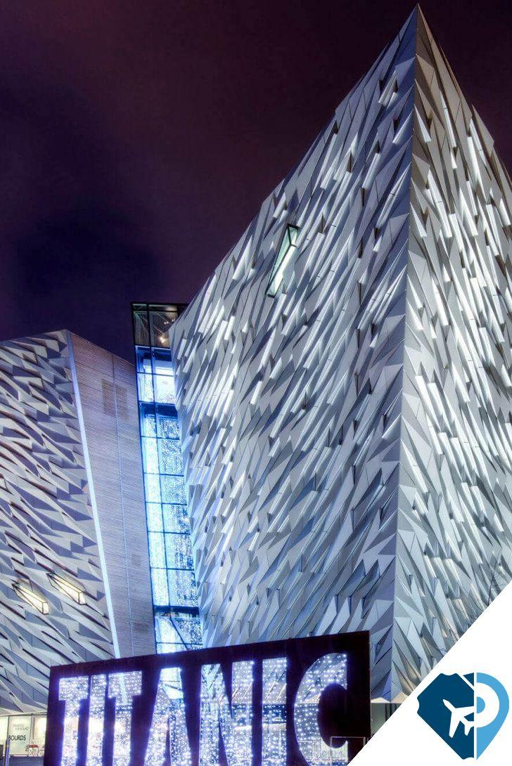 Centro interactivo Titanic Belfast, Belfast El orgullo del Belfast industrial, este homenaje al 'buque de los sueños' es, realmente, un lugar de ensueño. Nombrada recientemente Mejor Atracción Turística del Mundo, se encuentra en el lugar exacto donde se construyó el Titanic hace más de un siglo. Museo y exposición interactiva a partes iguales.