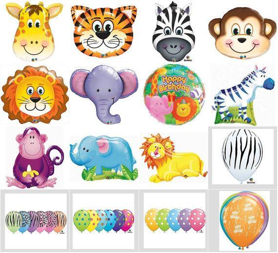 Jungle Zoo Circus Animals Safari Balloons Birthday Party Decorations Favors Supersized Centerpiece Zoo Jungle Circus Animals