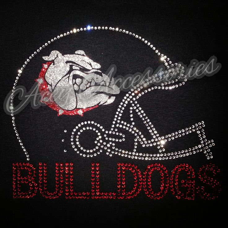 Bulldog Football rhinestone shirt