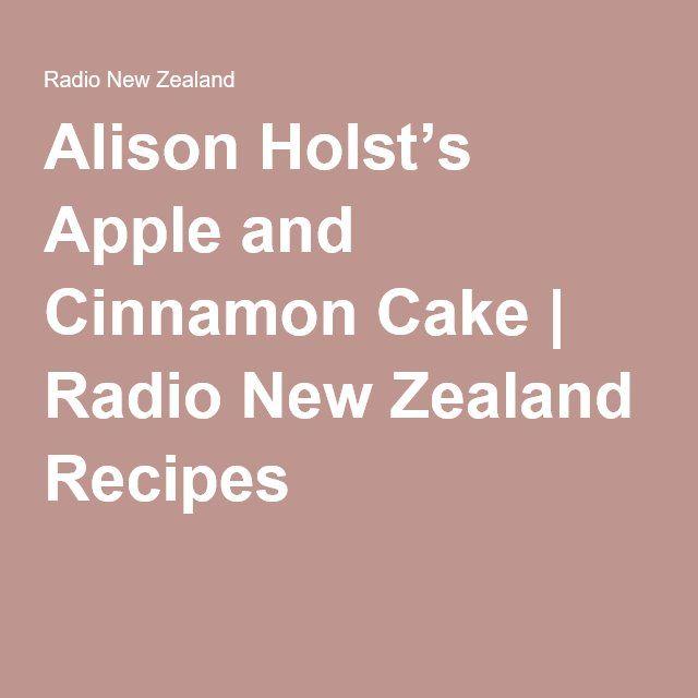 Apple cinnamon cake recipe nz