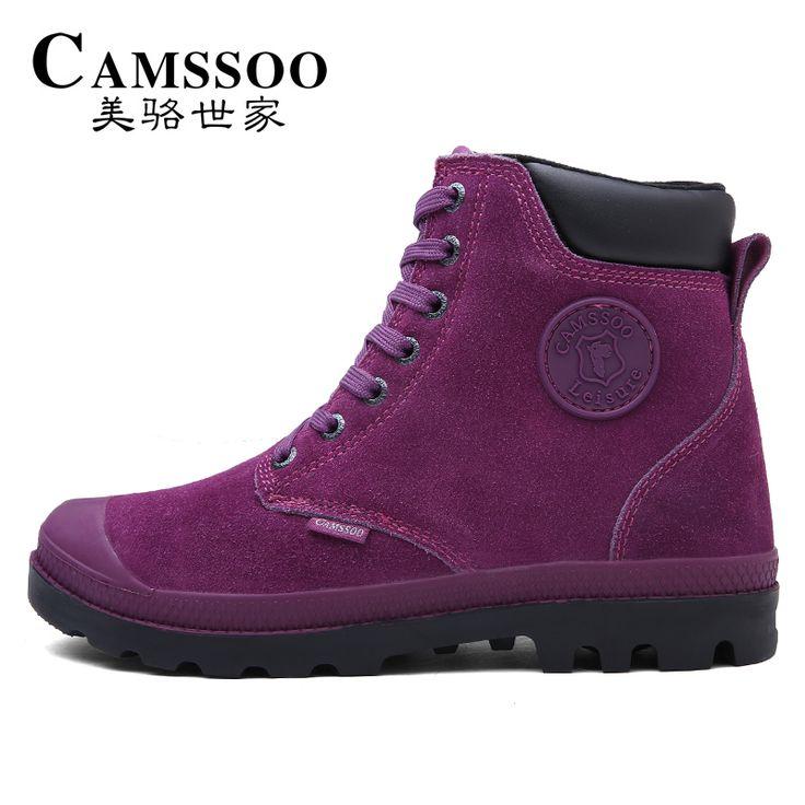 CAMSSOO Women's Winter Outdoor Trekking Hiking Boots Shoes Sneakers For Women Warm Climbing Mountain Boots Shoes Woman EUR 36-40