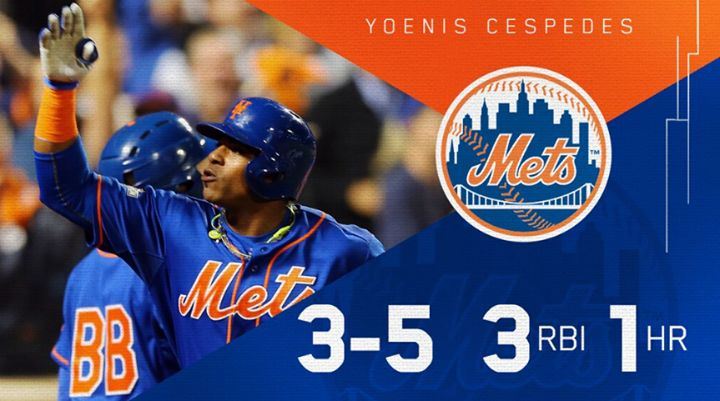 Yoenis Cespedes Has Been Pretty Important For The Mets vs The Dodgers. -ESPN Baseball Tonight #NLDS