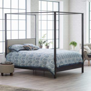 Belham Living Allister Canopy Bed - No matter which style speaks to you, you'll love cozying up in the Belham Living Allister Canopy Bed . This stunning contemporary piece features a carbon...