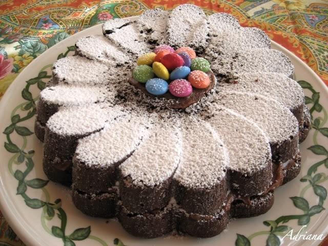 Torta al cioccolato con crema di nutella