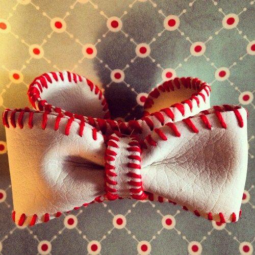 Custom Bow Baseball Cuff, original sport cuff, Lisa Kettell