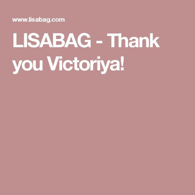 LISABAG - Thank you Victoriya!