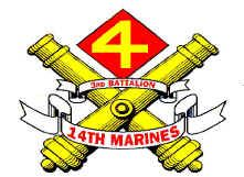 3rd Battalion, 14th Marine Regiment (3/14) is a reserve artillery battalion comprising four firing batteries and a headquarters battery. The battalion is based in Bristol, Pennsylvania and its primary weapon system is the M777 howitzer with a maximum effective range of 30 km. They fall under the command of the 14th Marine Regiment and the 4th Marine Division.