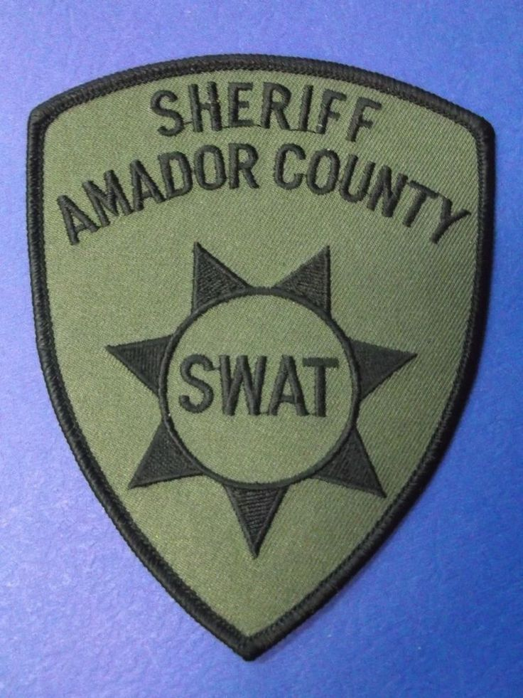 California amador county co sheriff police patch swat ert