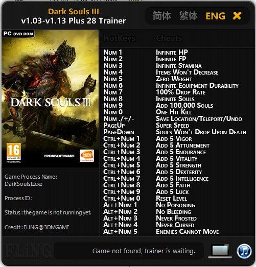 Dark 3 Cheats