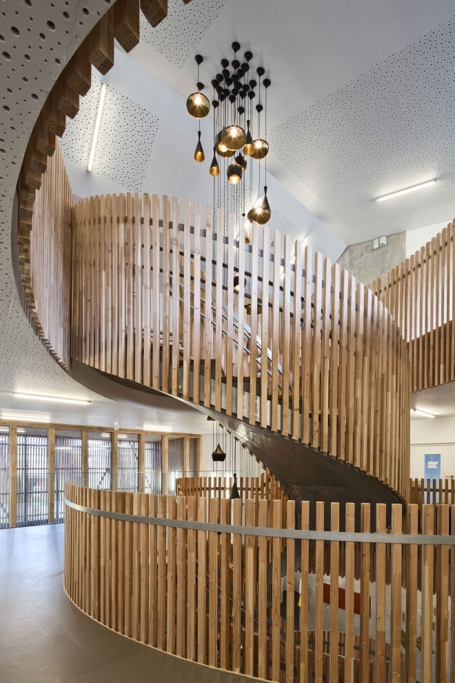 TINO School (Saint-Denis, France) -  I always have a thing for wood.