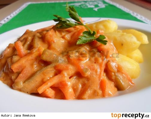 Zadělávaná mrkev