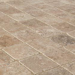 "Travertine Tiles - Tumbled - Noce Classico Rustic / 4""x4""x3/8"" / Tumbled"