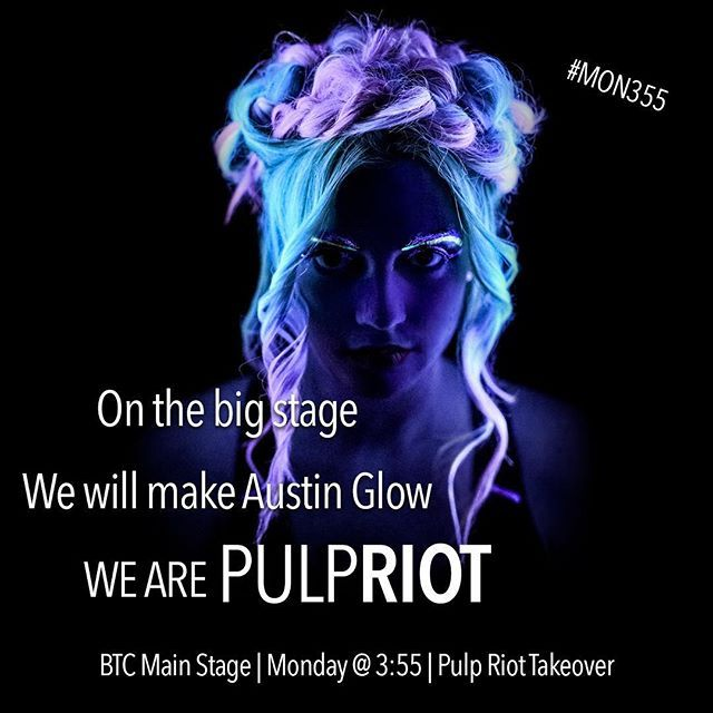 #MON355 Come by the Pulp Riot booth all weekend long at the @behindthechair_com show in Austin to see color demos by some of the most badass artists we know and pick up some limited edition Pulp Riot merch. And, you won't want to miss our epic main stage performance on Monday at 3:55pm featuring @rubydevine @jaywesleyolson @doug_theo @davidbutterflyloft @hair_princess_steph @hairbykaseyoh @wesdoeshair @bottleblonde76 @bleachedandblown @stephygnarstagram @glamiris @hairbymisskellyo…
