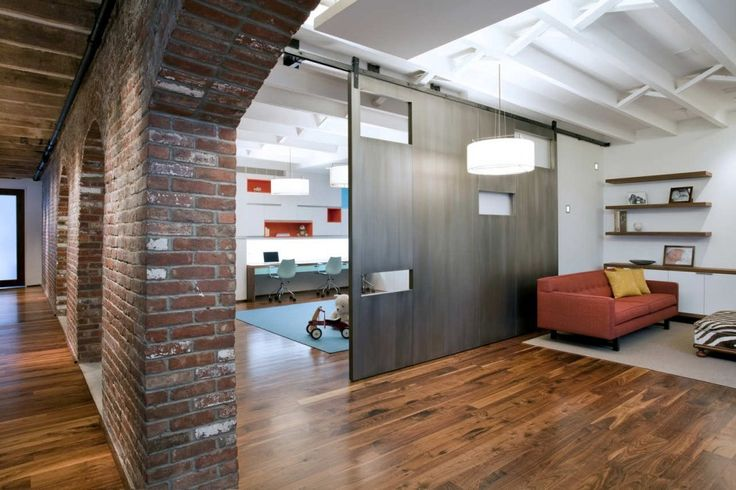 Internal brick wall movable wall architecture House with movable walls