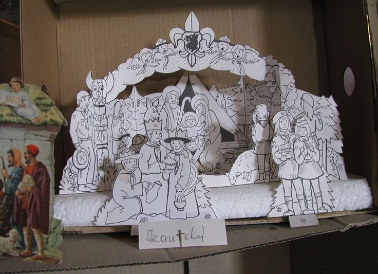one more Scout Nativity, this one on display at the Zábrdí Paper Nativities Museum (from a note published by Radio Prague)