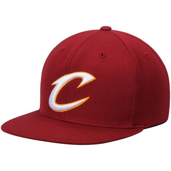 Cleveland Cavaliers Mitchell & Ness Wool Solid 2 Adjustable Snapback Hat - Burgundy - $29.99