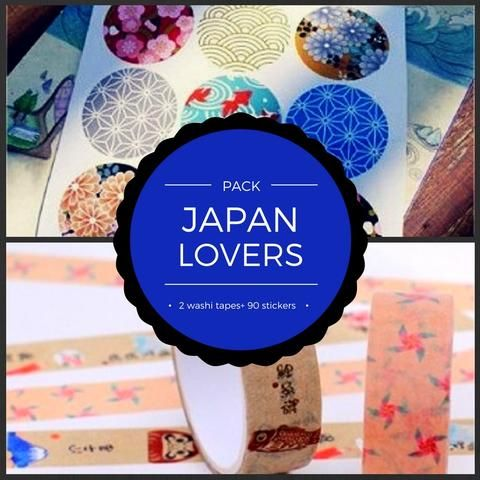 PACK - Japan lovers - 2 masking tape + 10 sticker sheets