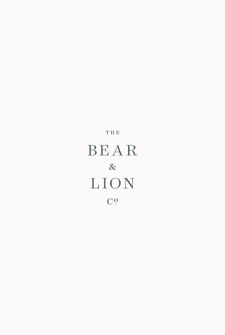 The Bear & Lion Co. Branding
