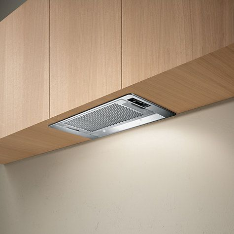 this is really slim: it is wide but only 145mm tallB:  Elica Eliplane 80 Built-In Cooker Hood, Stainless Steel Online at johnlewis.com