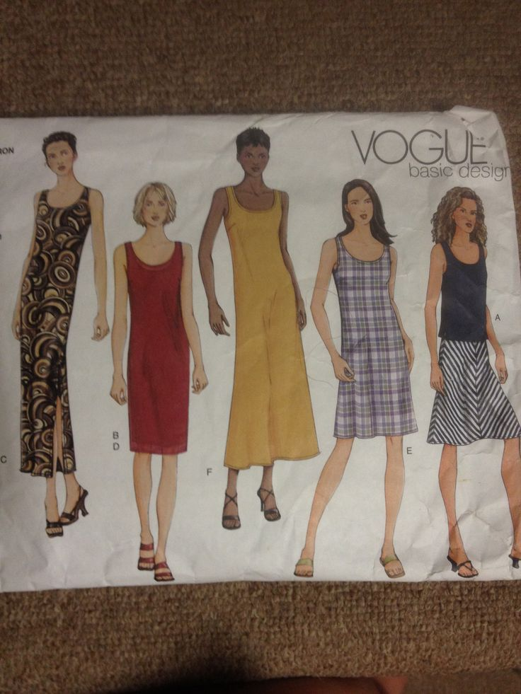 Vogue 2562, Misses dress top and skirt, Sz 12-16 (34-38), 2001
