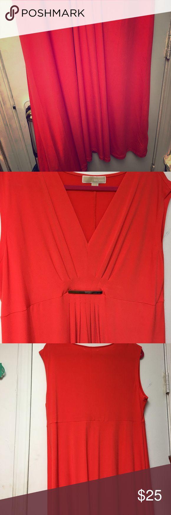 Beautiful orange maxi dress Worn once beautiful orange maxi dress. Michael kors XL Michael Kors Dresses Maxi