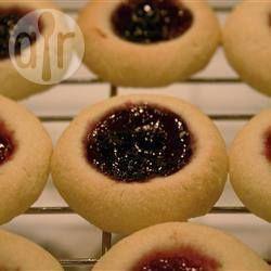 recept: Marsepein en jam koekjes