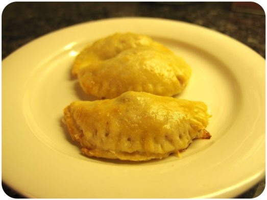 Empanadas (with two different fillings).