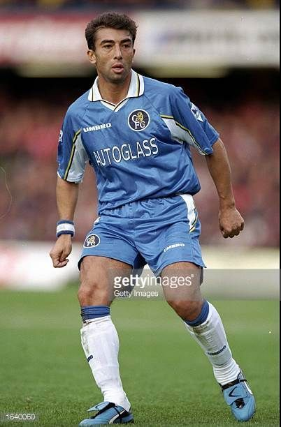 Roberto Di Matteo Of Chelsea In Action During The Fa Carling Premiership Match Against Charlton At Stamford Bridge In London England Chelsea Won The
