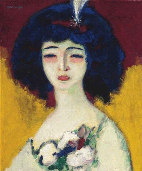 Kees van Dongen - La femme à l'aigrette, Circa...