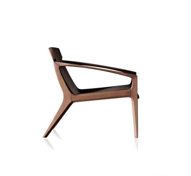Contemporary armchair / wooden - LINNA by Jader Almeida - SOLLOS