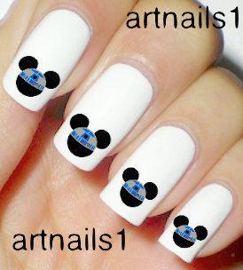 Star Wars Disney Mickey Mouse Nails Art Polish R2D2 by artnails1