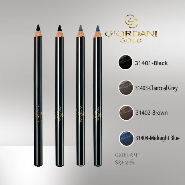 Giordani Gold olovka za kapke s polimer tehnologijom. Dostupna u četiri raskošne nijanse. Sadrži vitamin E.