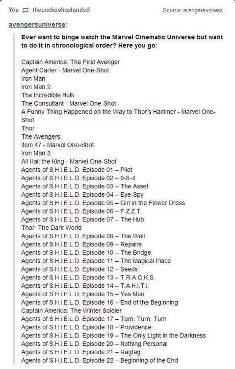 Marvel movies in chronological order