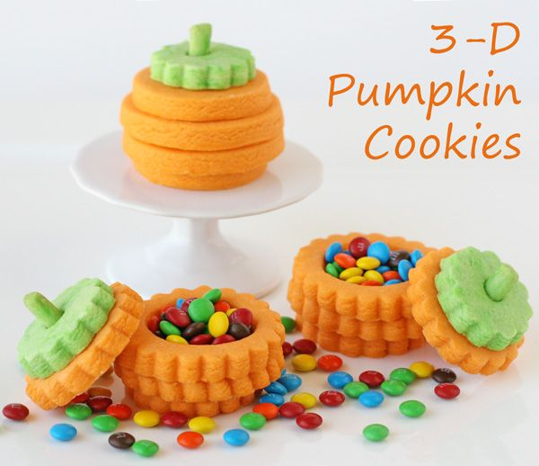 Adorable 3-D Pumpkin Cookies with a treat inside