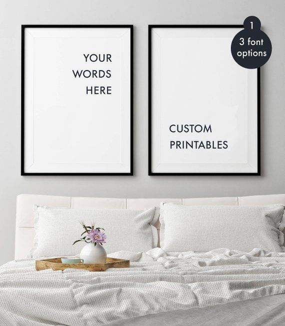 Custom Quote Wall Art Double Quote Print Set Of 2 Prints Custom Wall Quotes Wall Decor Quotes Trendy Wall Decor
