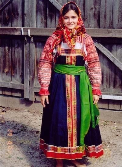 Народный костюм смоленской области традиционный