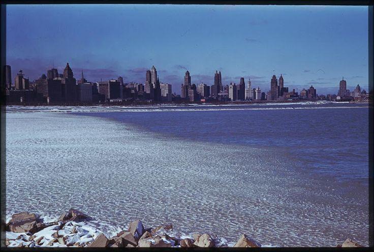 1941 Чикаго зимой. Вид с Северного острова.