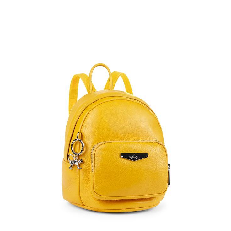 Kipling Yellow Back-Pack Style Bag