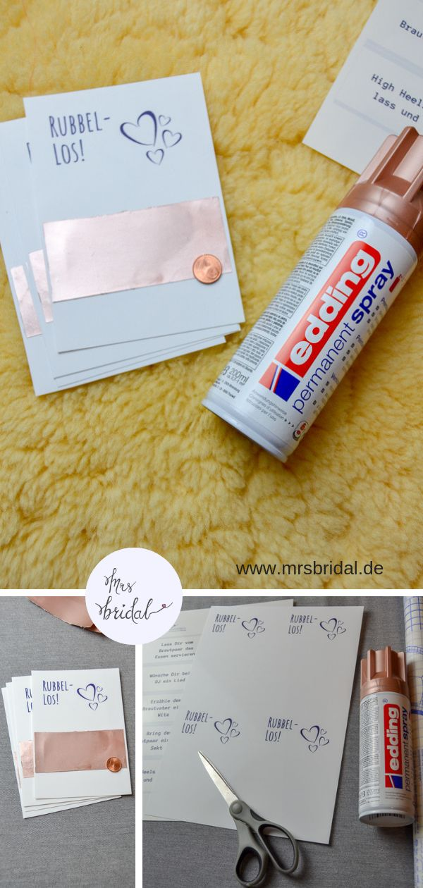 Rubbelkarten mit Edding Spray DIY