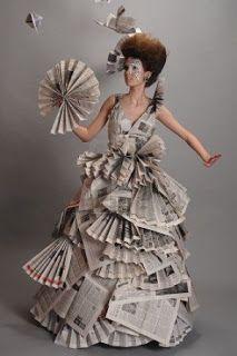 Vestidos con Material Reciclado, Moda y Diseño Ecoresponsable