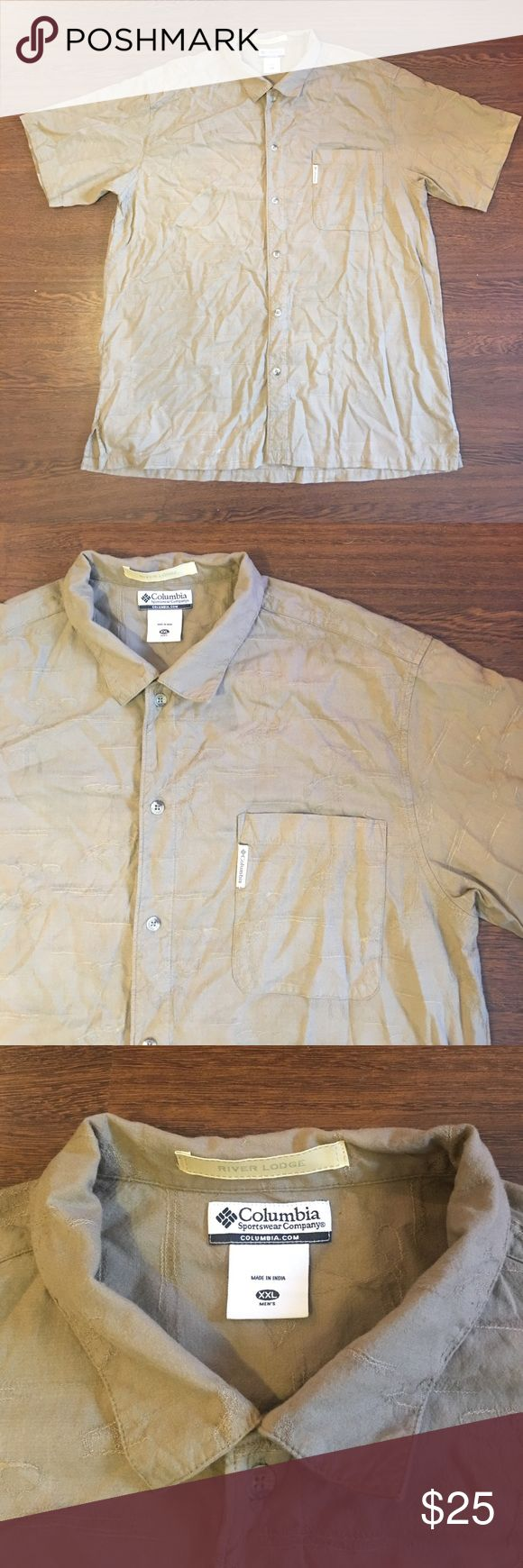 🔥SALE🔥Columbia Sportswear River Lodge Button XXL Columbia Sportswear River Lodge Button Down Shirt. Bass Fishing Design. Men's Size XXL. Lightly Worn. In Great Pre Owned Condition. Just Wrinkled. Columbia Shirts Casual Button Down Shirts