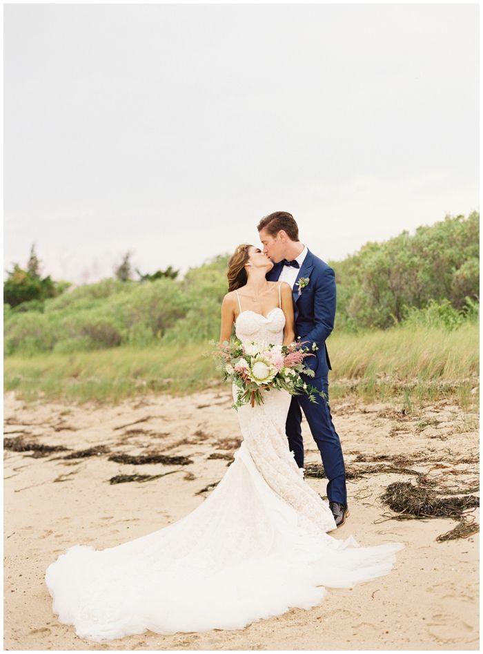Beach wedding at Rams Head Inn